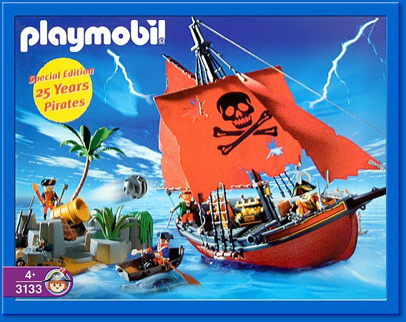06 navire barque 3619 bateau pirate ilot photo - Bateau corsaire playmobil ...