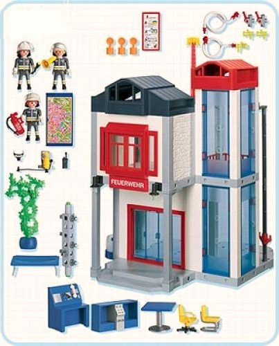 caserne pompiers playmobil. Black Bedroom Furniture Sets. Home Design Ideas