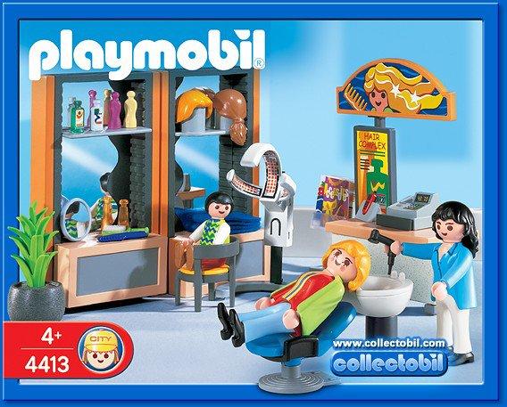 17 commerce vendeur ambulant 4413 coiffeuse salon de for Playmobil salon de coiffure