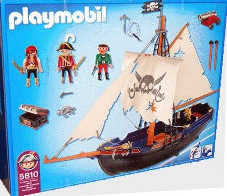 06 navire barque 5810 bateau bleu pirate photo archive article playmobil - Playmobil bateau corsaire ...